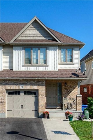 Semi-detached at 71 Curzon Cres, Guelph, Ontario. Image 1