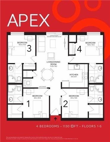Condo Apartment at 1291 Gordon St, Unit 206, Guelph, Ontario. Image 11