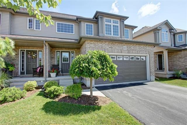 Condo Townhouse at 62 Walker Way, Guelph, Ontario. Image 1