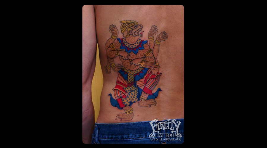 Hanuman  Hindu  God  Indian  Monkey  Back  Backpiece  Custom Color