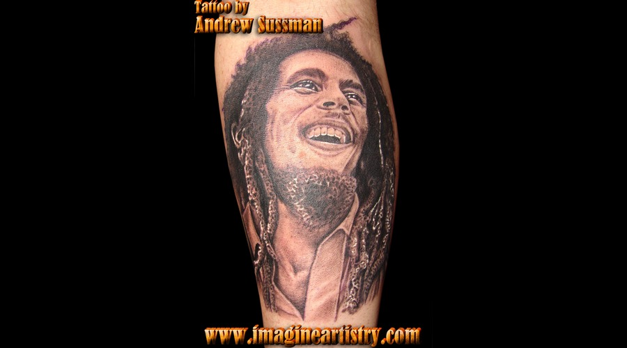 Bob Marley  Portrait Black White