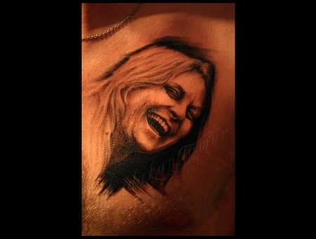 Portrait Chest Istanbul Tattoo Dövme Budakan  Black White