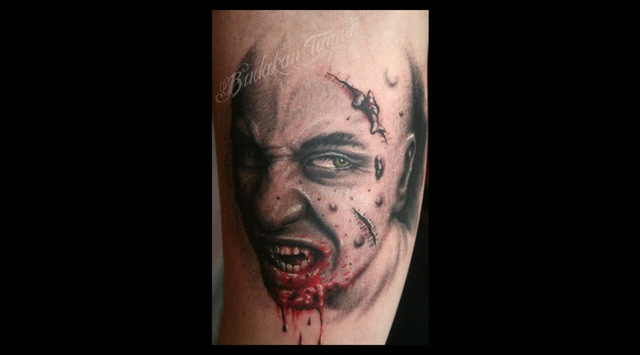 Portrait  Istanbul Tattoo Dövme Budakan Zombie Color