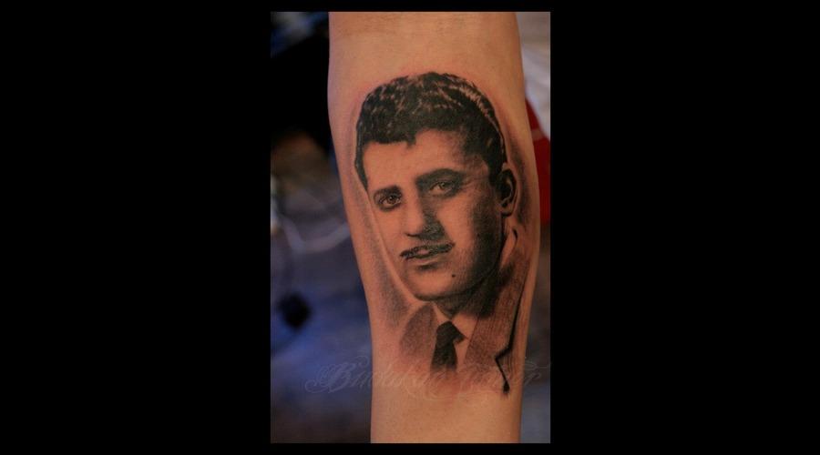 Portrait Arm Istanbul Tattoo Dövme Budakan  Black White