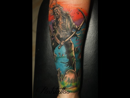 Zombie  Iron Maiden  Eddie Color