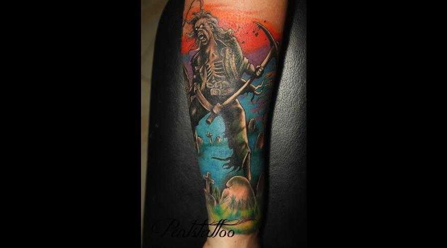 Zombie  Iron Maiden  Eddie Color
