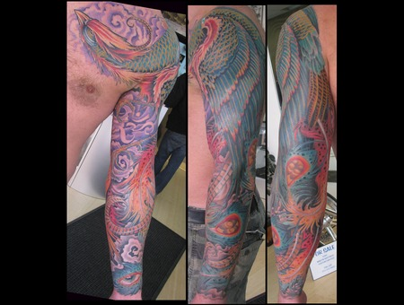 Pheonix  Japanese  Ohm  Eye  Sleeve Color