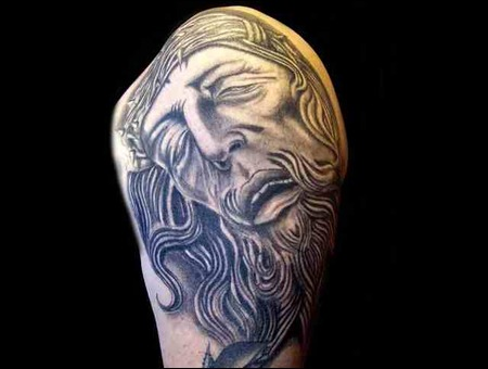 Jesus Black White
