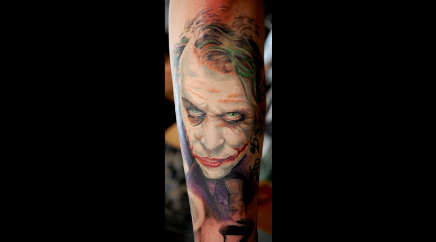 Joker Batman Ledger Portrait Colorportrait Color Arm