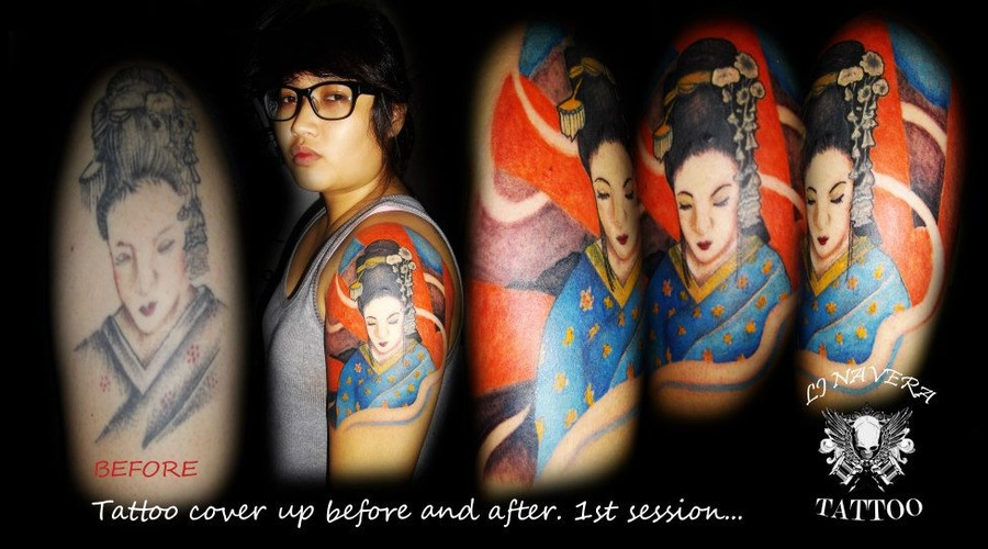 Geisha  Coverup  Enhance Color Arm