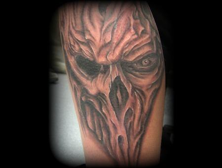 Skull  Eye  Evil  Death  Black White