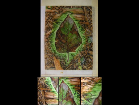 Colored Pencil  Leaf  Glow  Realistic Color