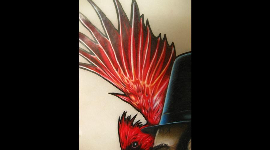 Colored Pencil  Abe Lincoln Tattooed Color