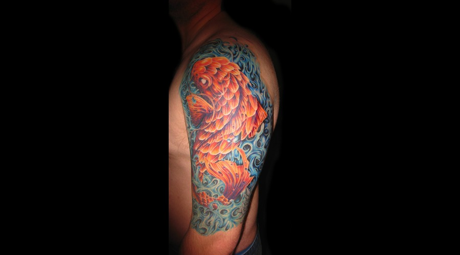 Color  Koi Fish  Water Color