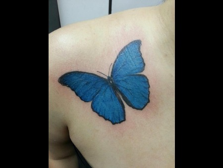 Butterfly  Shouder  Realistic Color