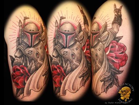 Newschool  Custom  Star Wars  Boba Fett Black White Arm