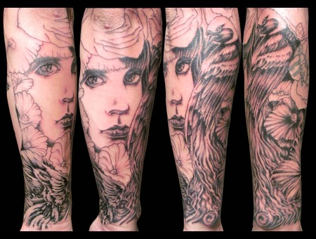 In Progress Black Grey Forearm