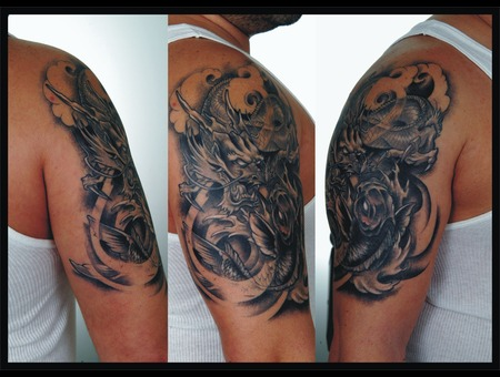 Storm Tattoo   Adem Sanli Black White