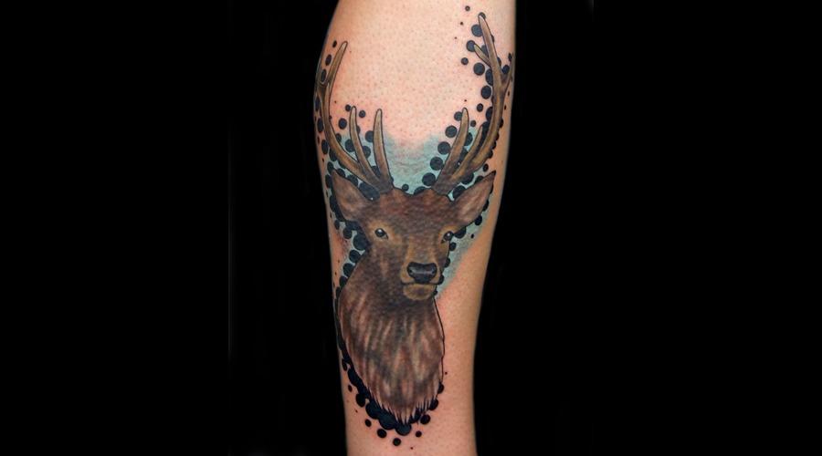 Halftone Dots  Deer Color