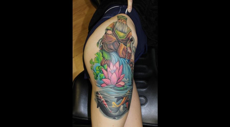 Koi Fish   Lotus Flower  Color