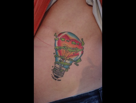 Light Bulb  Tattoo  Color Color