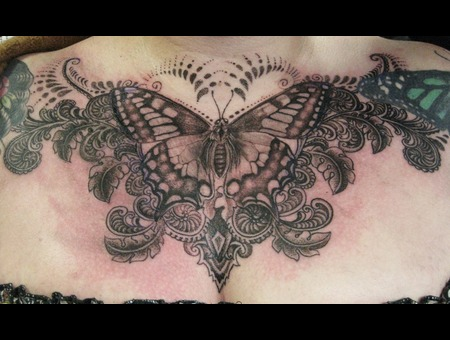 Chest Piece Black White