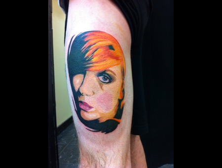 Color  Portrait  Illustrative  Tattoo  Girl  Pretty