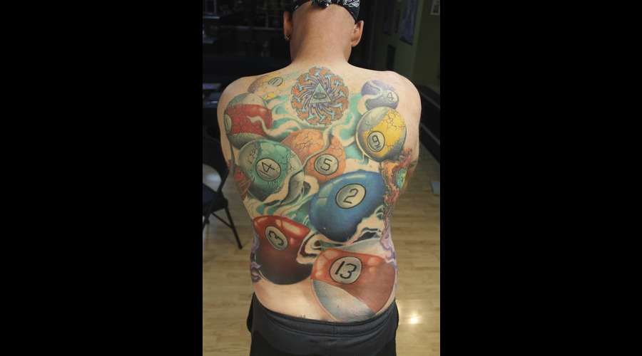 Pool Balls  Back Piece Color