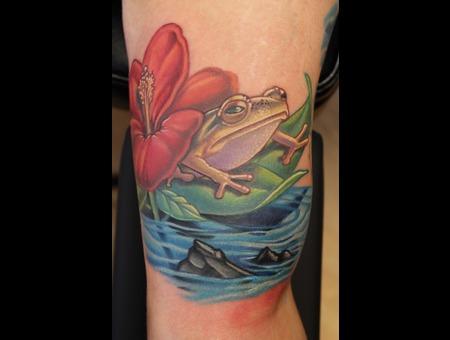 Coke Frog  Water Color