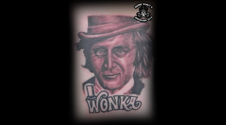 Willy Wonka  Black Grey Back