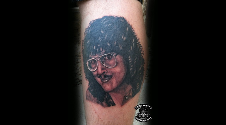 Weird Al Black Grey Lower Leg