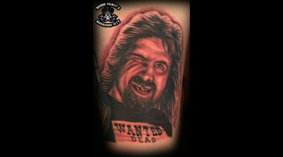 Mick Foley Black Grey Thigh