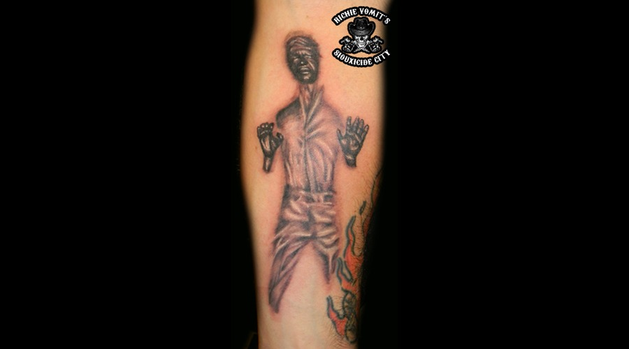 Star Wars Han Solo Black Grey Forearm