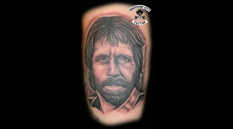 Chuck Norris  Black Grey Lower Leg