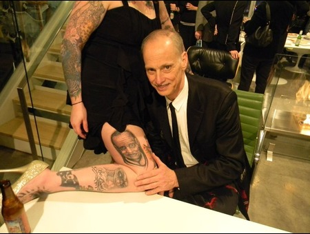 John Waters Portrait Black Grey
