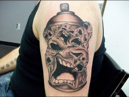 Devil  Evil  Demon  Arm  Shoulder Black White