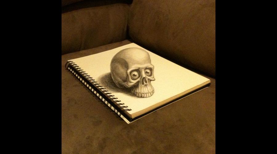 Drawing  Skull  3d