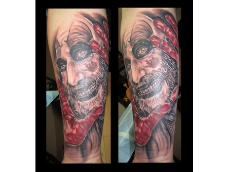 Devil's Rejects  Portrait  Forearm Black Grey