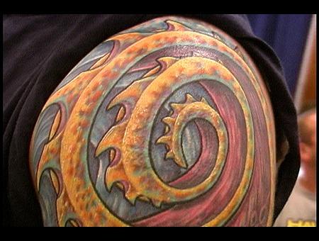 Sleeve  Bio  Organic  Bright  Color  Biomech  Tattoo  Deep Color