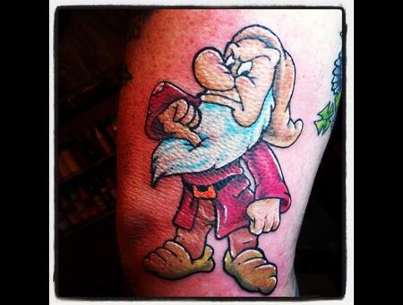 Cartoon  Disney  Grumpy  Snow White  Seven Dwarfs  Color