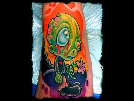 Zombie  Cute  Tattoo  Foot  Girl  Flower  Love  Heart Ache  Eye Color