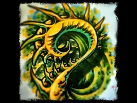 Bio  Organic  Color  Small Tattoo Color