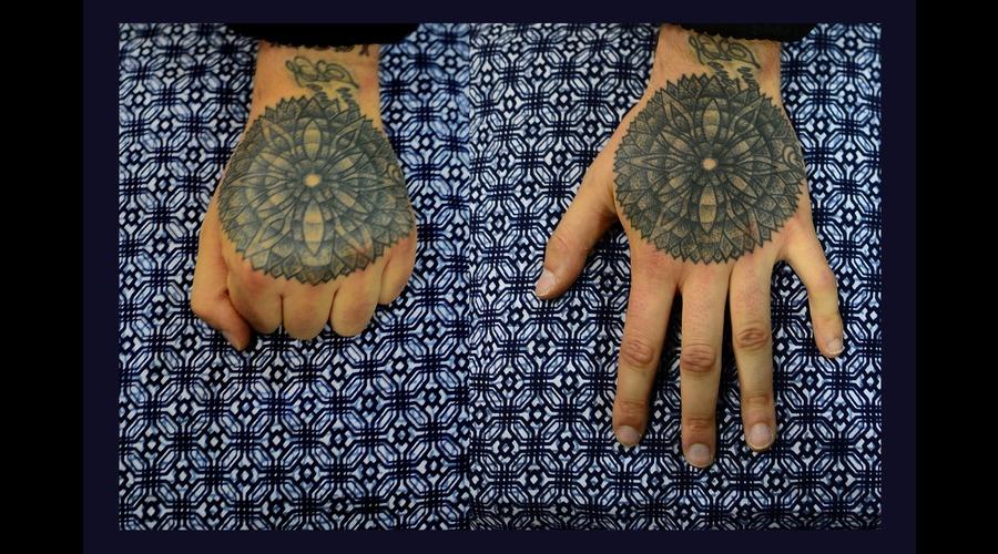 Hand Black White