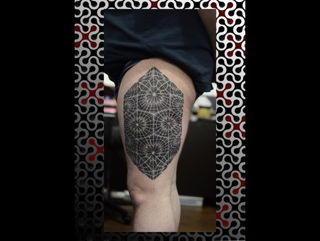Leg Black White
