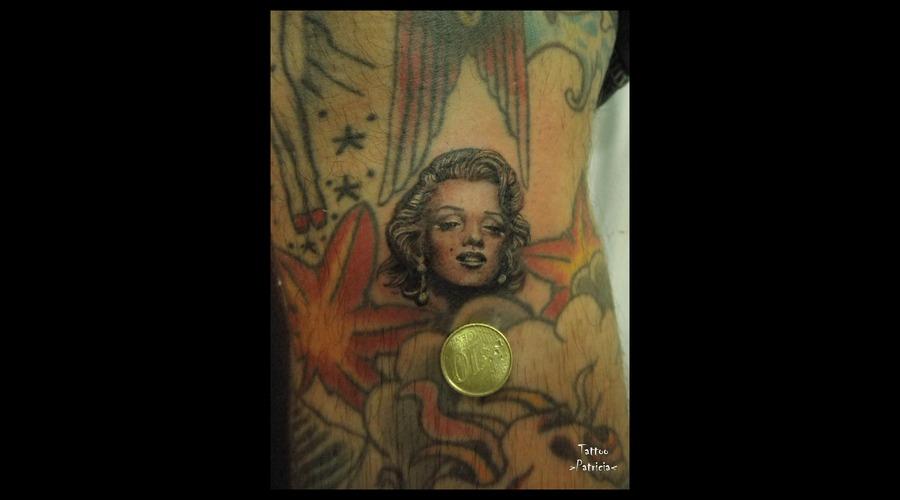 Marilyn Tattoo  Miniature #Minitattoo Black White