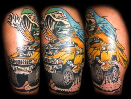 Rat Fink  Hummer  Parrot  Color