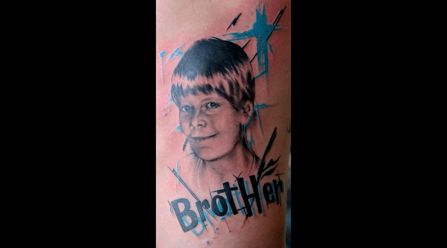 Portrait  Brother  Trash Polka Black White
