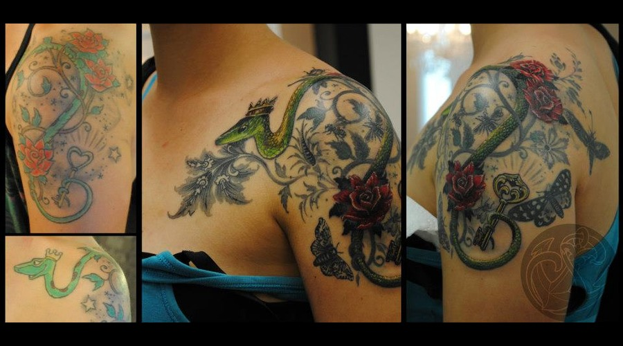 Cover  Up  Snake  Roses  Key  New  Traditional  Victorian  Ornaments Color