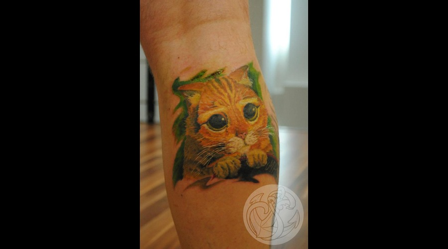 Realistic  Puss  In  Boots  Leg  Gestiefelter  Kater Color