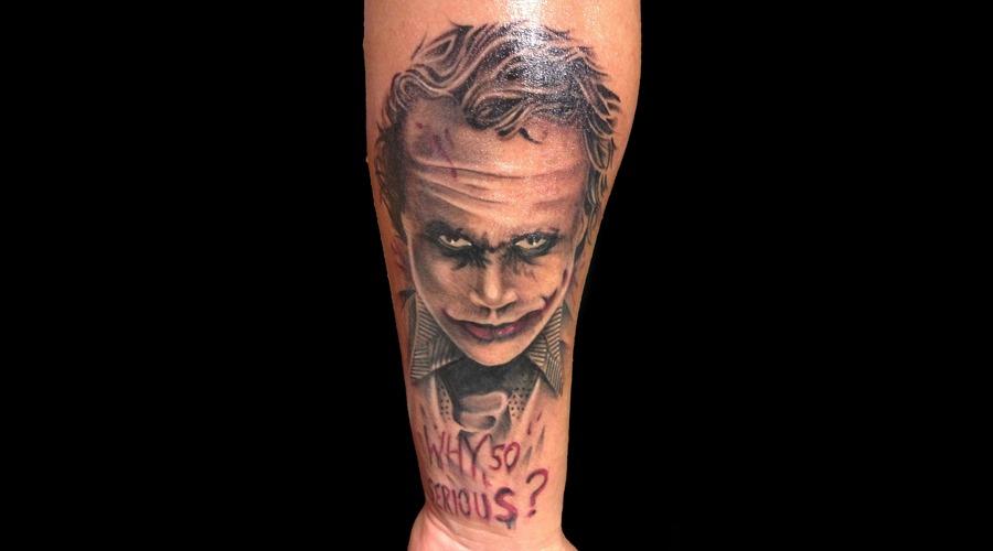 Health Ledger Joker Nic Westfall Tattoo San Francisco  Black Grey